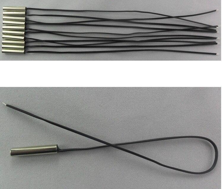 Shenzhen More-Suns Electronics Co.,Ltd Fast Free Ship 50pcs/lot NTC Thermistor Temperature Sensor Probe 5*25MM 10K 1% 3950 Doubling Cable length 220 28# NTC