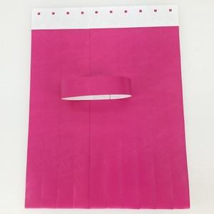 Image 5 - 1000pcs 일회용 다른 색상 사용 가능한 종이 손목 밴드, 이벤트 팔찌, 파티 tyvek 밴드 tyvek 종이 팔찌