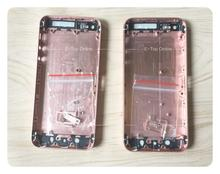5g 5S SE Rose Golden Full chassis For iphone 5 5g / 5s iphone5 Back housing Like SE metal alloy cover battery door Custom IMEI