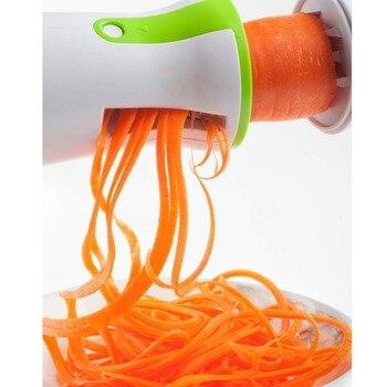 Portable Spiralizer Vegetable Slicer Handheld Spiralizer Peeler Stainless Steel Spiral Slicer for Potatoes Zucchini Spaghetti 2