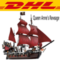 LEPIN 16009 1151 Unids Piratas Del Caribe de la Reina Anne Reveage Kits de Edificio Modelo Bloques Ladrillos Juguetes Para Niños regalo 4195