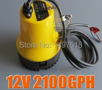 12V 50W BL2512 Bilge Pump 3m3/h small DC Submersible water pump for Fountain garden irrigation swimming pool cleaning farming dc water pump 12v dc40a 1245 for garden fountain music fountain swimming pool submersible 620l h 4m maintenance free