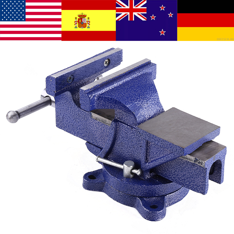5 Heavy Duty Engineers Vice Swivel Base Clamp Jaw Work Bench Top Quality bench clamp mini drill mini schraubstock