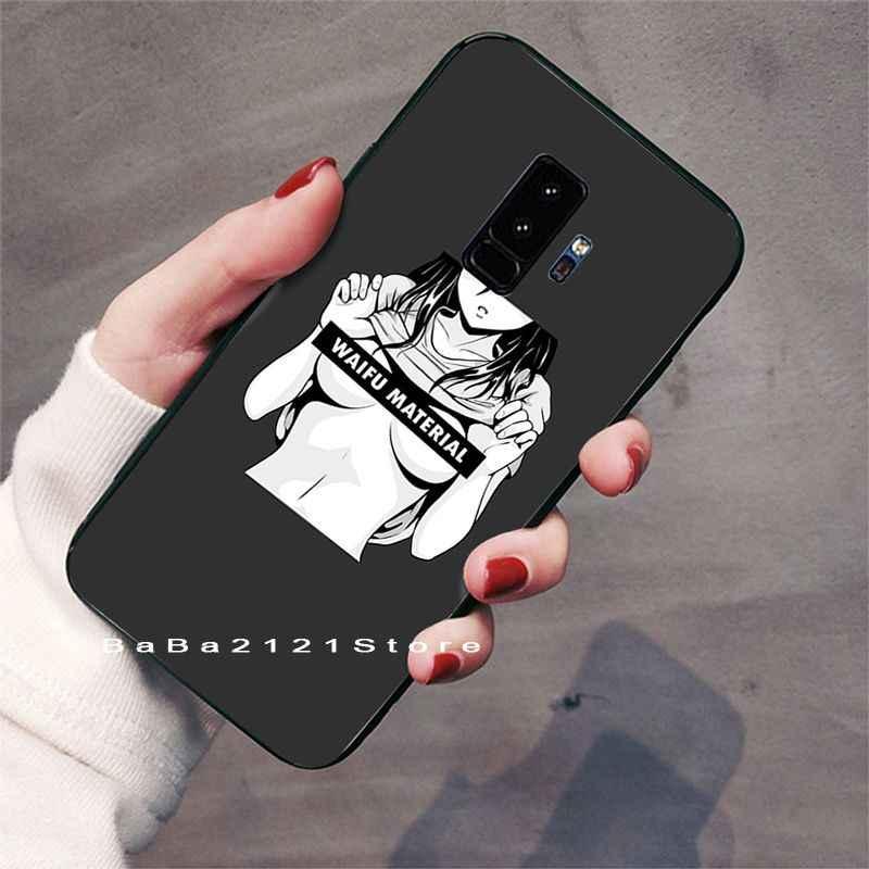 Babaite Sugoi SenpaiอะนิเมะWaifu Custom Photoโทรศัพท์กรณีสำหรับGALAXY S5 S6 Edge S7 Edge S8 Plus S9 plus S10 S10 Plus