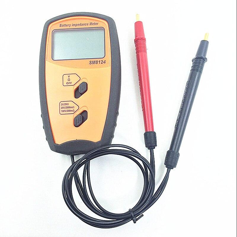SM8124A compteur d'impédance de résistance de batterie interne voltmètre de résistance de batterie 200 V testeur de batterie invite de basse tension - 2