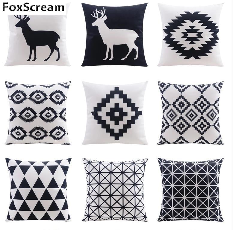 home textile decorative pillows geometric pillows case gray geometric cushion cover home decor. Black Bedroom Furniture Sets. Home Design Ideas