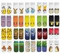 Мультфильм Аниме Покемон Пикачу Женщины Взрослые Дети Носки Короткие Носок Хлопка Мальчик Девочка Мило Шаблон Этаж Носки Детские Прекрасные Носки