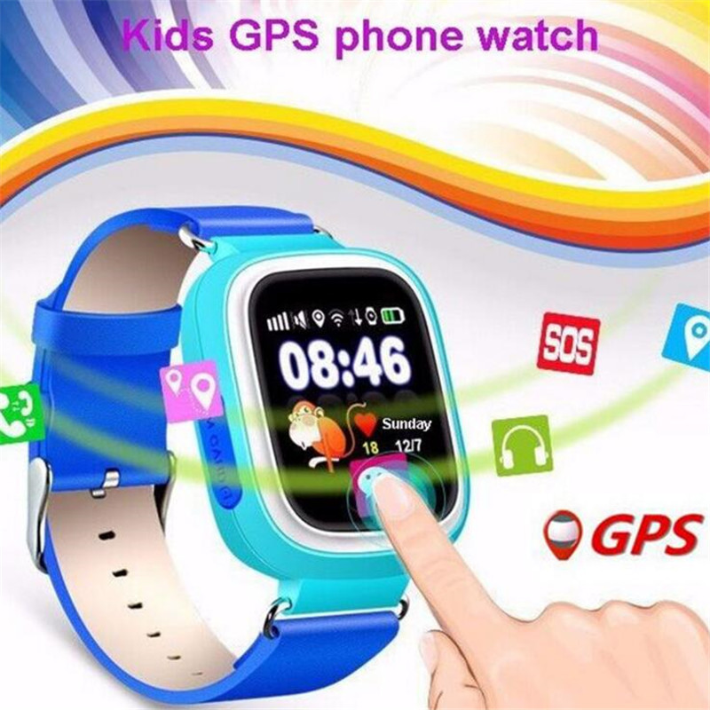 Kids GPS Smart Watch Baby Watch Q90 With Wifi Touch Screen SOS Call Location DeviceTracker For Kid Safe Anti-Lost Monitor F14 ds18 waterproof smart baby watch gps tracker for kids 2016 wifi sos anti lost location finder smartwatch for ios android pk q50