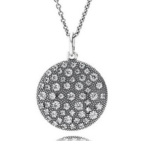 New 925 Sterling Silver Necklace Pave Shield With Clear Cubic Zirconia Pendant Necklaces For Women Wedding Gift Fine Jewelry