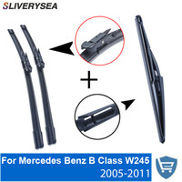 Front and Rear Wiper Blade no Arm For Mercedes Benz B Class W245 2005 2011 High quality Natural Rubber windscreen 26+23R