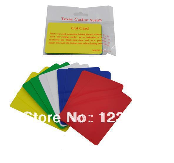 TA-039 Gambling Las Vegas Cut Card Bottom Protector - Poker Blackjack Casino -5 Colors, 10pcs/Set ...