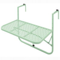 European simple mini wall hanging learning small table balcony hanging table railing wrought iron hanging folding table WF614939