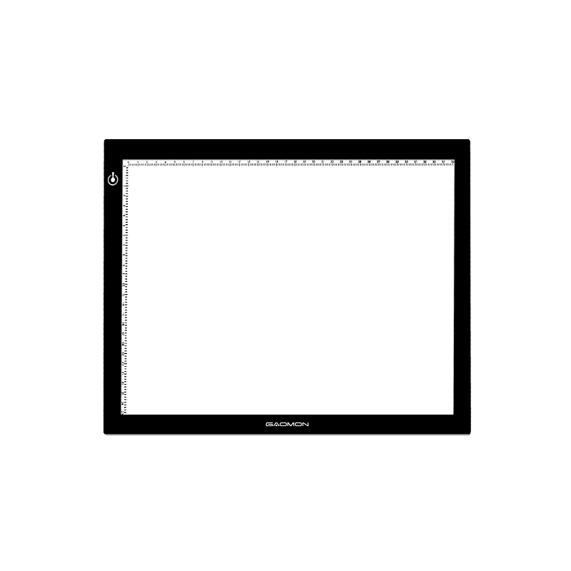 GAOMON GB4 5MM Ultra-thin LED Light Pad Light Box Board Tattoo Tracing Board for Sketching and Copying with B4 Size
