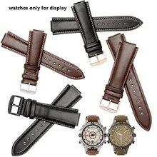 d7d366307e0 Qualidade wdistband 24 16mm black brown pulseira de couro genuíno Cinta  eplacement Para Timex T2N739 T2N721 720