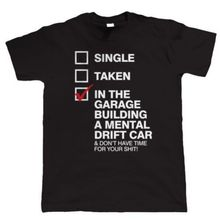The Garage Building A Mental Driftauto, Herren Lustige Drifting T-Shirt Funny Tops Tee New  Unisex High Quality
