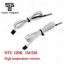 5 adet/grup 100 K ohm NTC 1 M/2 M Hattı ile 3950 Termistörler Sensörler Kablo 3D Baskı Parçası sıcaklık Bölüm Beyaz Aksesuarları...