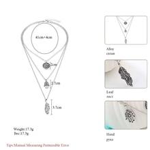 Meyfflin Bohemia Multilayer Chain Choker Necklaces & Pendants for Women Punk Elephant Moon Shell Necklace Fashion Collar Jewelry