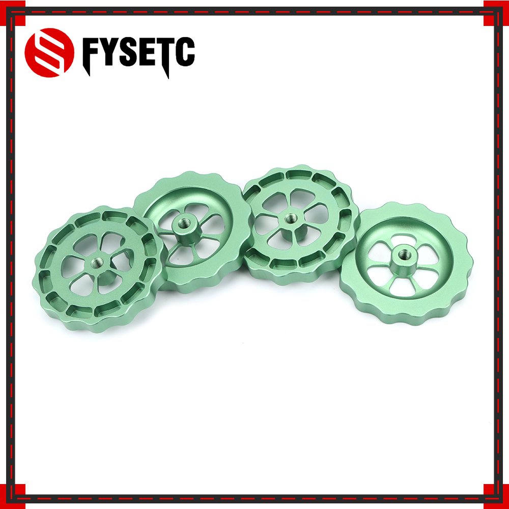 1PC <font><b>3D</b></font> Printer <font><b>Parts</b></font> Green Big Hand Twist Leveling Nut All Metal For <font><b>TEVO</b></font> <font><b>Tornado</b></font> <font><b>3D</b></font> Printer Ultimate Knob Leveler M5 thread image