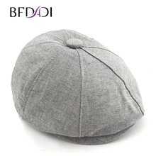 BFDADI 2018 Comfortable Windproof Newsboy Cap For Men And Women Spring And  Summer Grid Leisure Painter 38efa8a536a3