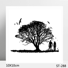 AZSG Lush Tree / Happy Couples Clear Stamps/Seals For DIY Scrapbooking/Card Making/Album Decorative Silicone Stamp Crafts