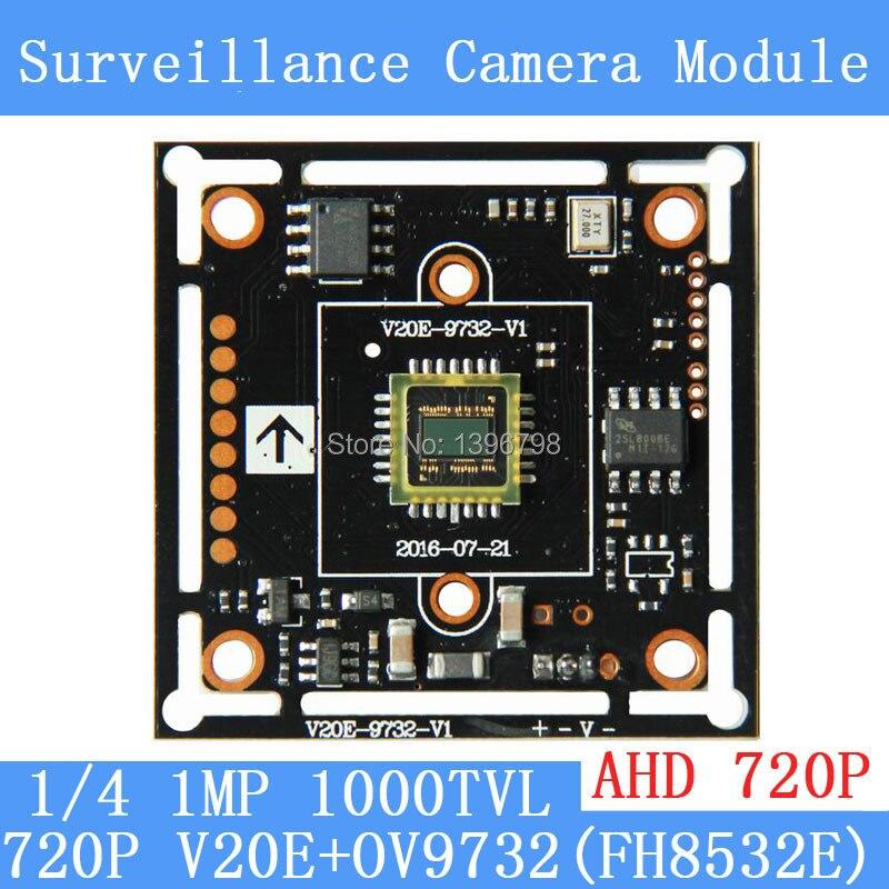 PU`Aimetis AHD 720 1000TVL1Megapixel board camera module cctv camera PCB,1/4 OV9732 CMOS + V20E,Low 0.001lux, 38*38mm freeshipping ne555 multivibrator module pcb board