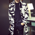 Long Trench New European Style Men Long Coat Design Korean Fashion Casual Couple Loaded Loose Long Jacket
