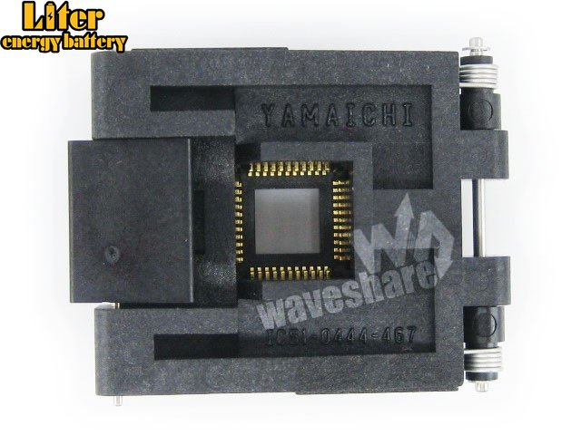 QFP44 TQFP44 FQFP44 PQFP44 IC51-0444-467 Yamaichi QFP IC Test Burn-in Socket Programming Adapter 0.8mm Pitch