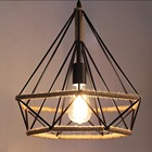 Lampshade frame creative manila rope chandelier ceiling pendant lampshade light shade