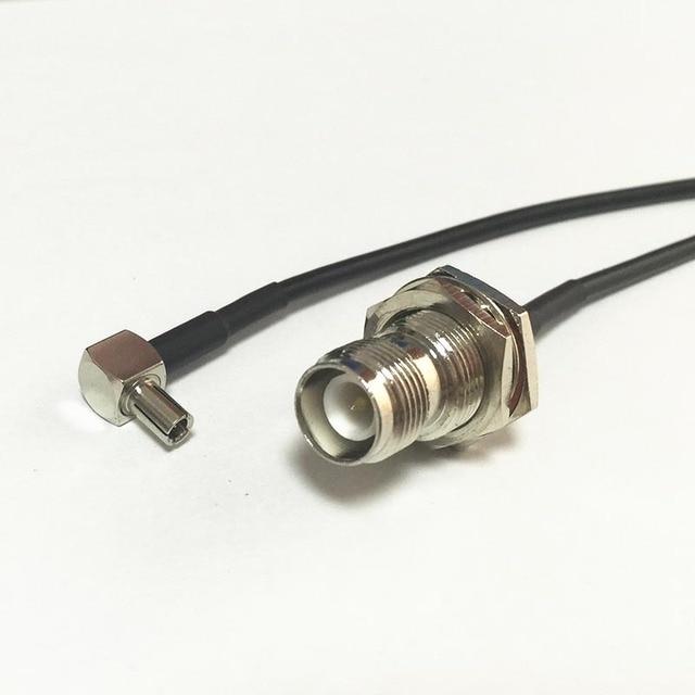 New Wireless Modem Wire RP TNC Female Jack nut Switch TS9 Right ...