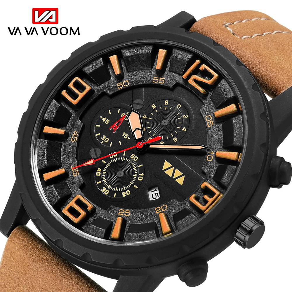 Fashion Sports Watch Men 2019 New Mens Watches Top Brand Luxury Quartz Watch Leather Waterproof Military Clock Relogio Masculino