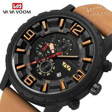 Fashion Sports Watch Men 2019 New Mens Watches Top Brand Luxury Quartz Watch Leather Waterproof Military Clock Relogio Masculino цена