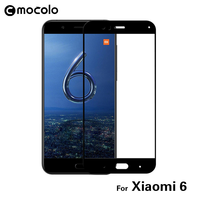 Original Mocolo 4Pcs / Set 9H 2.5D Nano Liquid Screen Protector Full Cover Verre Trempé Film Coloré Pour Xiaomi Mi 6 M6 Mi6