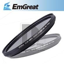Venda quente! fotga 77mm vidro circular fader ajustável variável nd filtro de densidade neutra nd2 para nd400 frete grátis