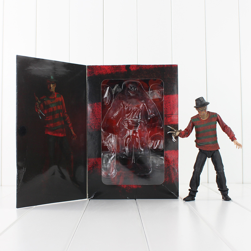 7 18CM NECA A Nightmare on Elm Street Freddy Krueger 30th PVC Action Figure Collectible Toy neca a nightmare on elm street 3 dream warriors pvc action figure collectible model toy 7 18cm kt3424