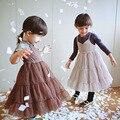 Принцесса Девушки Туту Платье Холтер Розовый Цвет Праздник Платье Партии Оборками Западная Весна Осень Летнее Платье