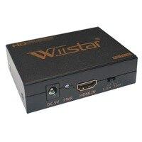 Yeni 1080 p hd video hdmi dvi koaksiyel ses dönüştürücü adaptör kutusu için ps4 xbox1