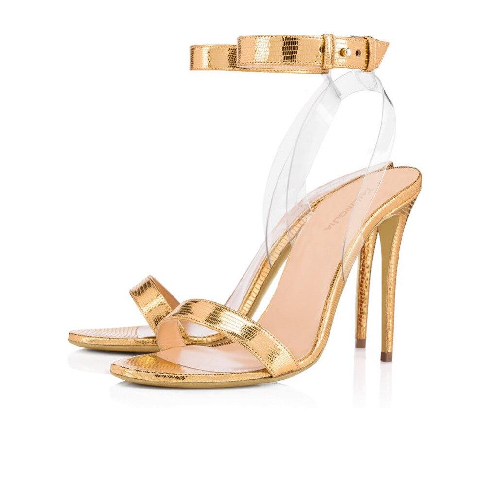 T À Sandales Chaussures Bout Beige Femme Or Talons blanc Cheville Ouvert Femmes noir Courroie Argenté Pvc D'été Haute Concise De Robe XPqUwz0w