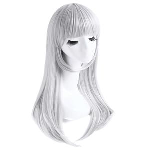 Image 2 - L email Peluca de Cosplay K Kushina Anna, pelo sintético resistente al calor para Halloween, largo y liso, gris, plateado