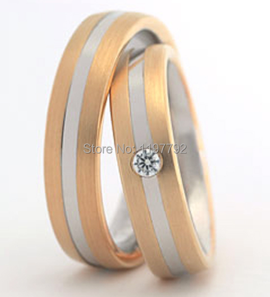 Top Quality Custom Made Gold Colour The Most Beautiful Amazing Awesome Titanium  Wedding Rings Sets For