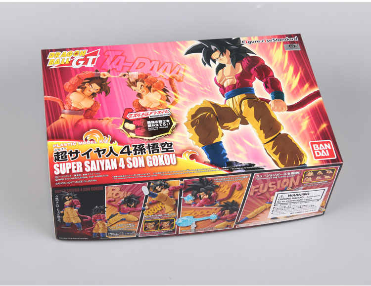 Original Bandai Tamashii Nations Figura-rise Padrão Dragon Ball GT Toy Figura-Son Goku Super Saiyan 4 Plástico modelo