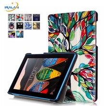 Caliente Magnética Soporte de la pu funda de piel para Lenovo Tab 3 Tab3 7 Esencial 710 710F TB3-710F cubierta de la tableta + Protectores de Pantalla + stylus