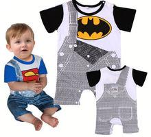Summer Newborn Clothes Baby Suit Boys Superman Batman Romper Cotton 0-24M