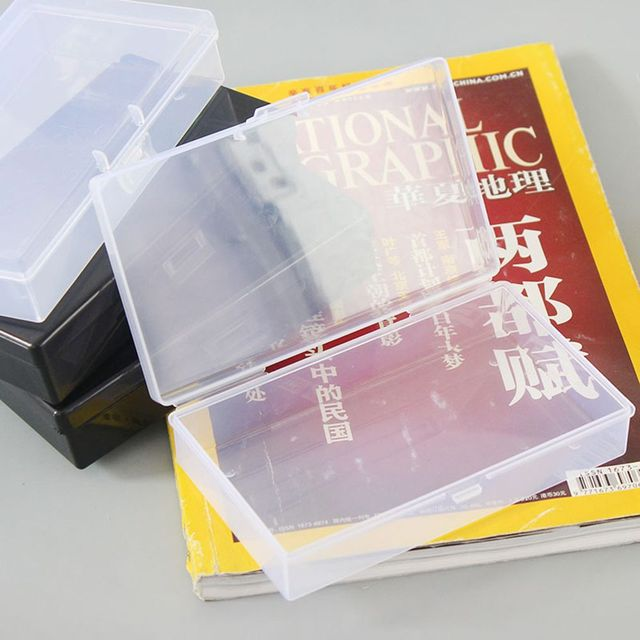 1 stücke Kunststoff Lagerung Box Make-Up Organizer Klar Platz Diamant Malerei Kunststoff Box Kosmetik Storage Box Desktop-Organizer
