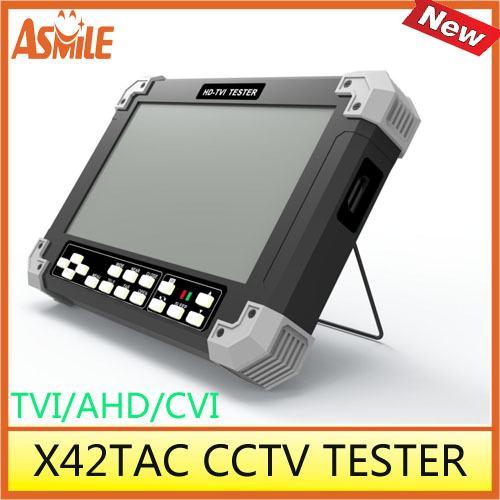 X42TAC 7inch TFT LCD ,800*480 cctv camera tester support TVI 3.0/AHD2.0/CVBS/VGA/HDMI cctv tester