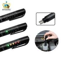 Мини-тестер для автомобильных тормозных жидкостей для Dot3/DOT4 батареи жидкостного цифрового тестирования 5LED индикатор влажности воды компактный