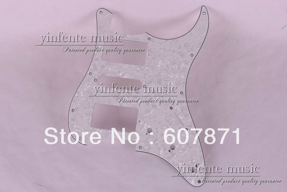 one pcs 3-Ply WHITE Pickguard for FENDER Stratocaster STRAT HSH 62#