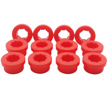 цена на 12pcs/lot Replacement Lower Control Arm Rear Camber Red Bushings for CIVIC