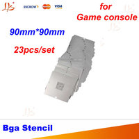 Free Shipping 23 Pcs Set BGA Reballing 90mm 90mm Game Console Stencils For PS3 Xbox 360