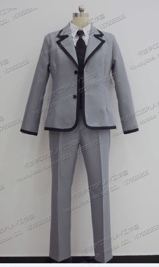 2012 Isogai Yuuma Cosplay Costumes School Uniforms Japanese Anime Assassination Classroom (Blazer + Vest + Pants + Necktie) image