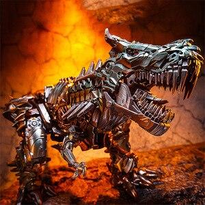 Image 5 - BMB LS05 LS 05 Grimlock del metallo Della Lega Movie Film Oversize allargata Leader antico Action Figure Robot dinosauro Deformato Giocattoli